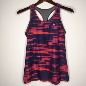 Nike Dri-Fit Multicolored Racerback Tank Size M